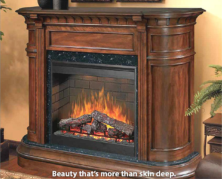Dimplex packages include awardwining dimplex fireplace and dramatic cabinets. A homeowners and remodelers dream