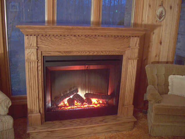 Electric Fireplace dealer in Winston Salem - See this best of show Dimplex Optiflame on Display