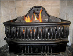 Gas Coal Grate  that burn gas restore your small fireplace  to its former Charm and function to heat any room in your house